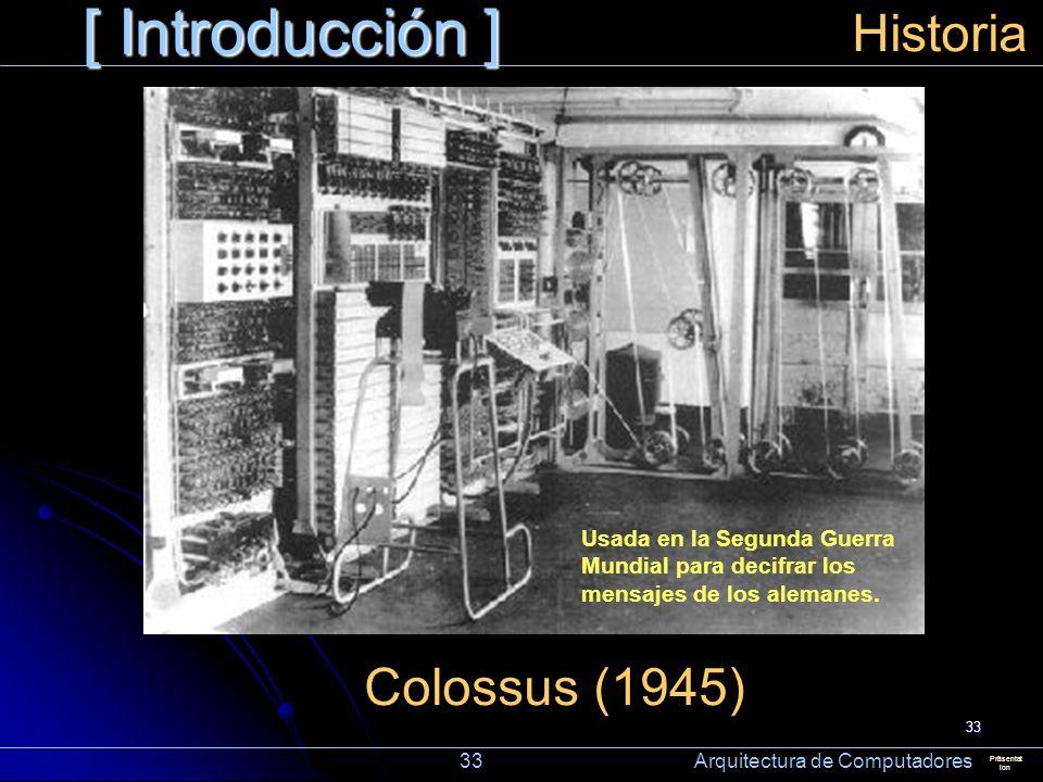 [ Introducción ] Historia Colossus (1945)